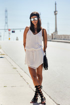 white IRO dress - black Rebecca Minkoff bag