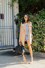 Nude-all-saints-coat-blue-one-teaspoon-shorts-nude-joes-jeans-pumps