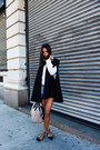Blue-one-teaspoon-shorts-black-zara-cape-black-studded-valentino-flats