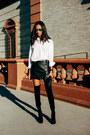 Black-stuart-weitzman-boots-black-chanel-bag-black-leather-all-saints-skirt