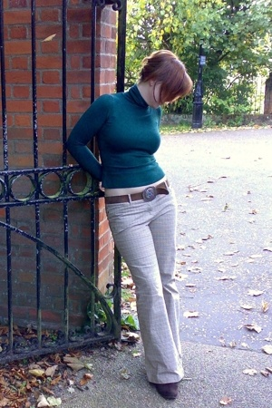 Primark sweater - Oasis pants - River Island belt - boots