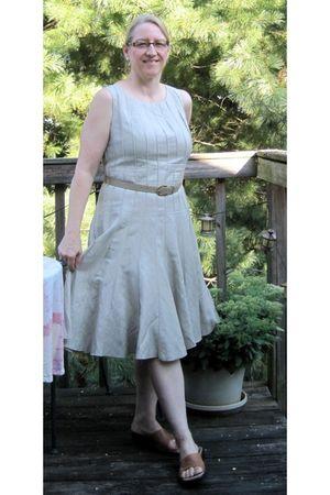beige calvin klein dress