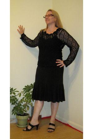black Chicos sweater - black Elementz skirt - black Nickels shoes