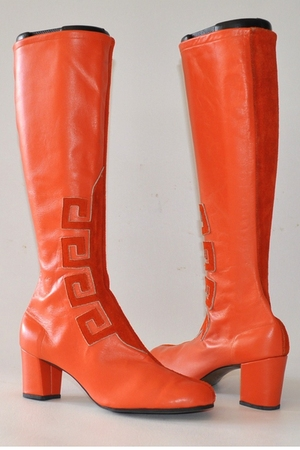 orange battani boots