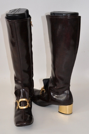 gold vintage 60s boots boots