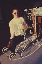 clear H&M sunglasses - peach H&M blouse