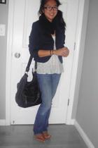 PacSun jeans - Lucky Brand blazer - American Apparel scarf - Steve Madden purse