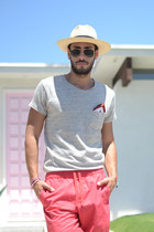 Ugg shoes - JCrew hat - Levis shirt - pocket square Topman scarf - Uniqlo shorts