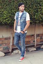 sky blue H&M jeans - black Element x Jac Vanek hat
