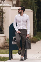 navy Band of Players bag - white Zara shirt - navy tsubo sneakers