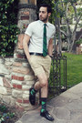 Black-zara-shoes-white-h-m-shirt-beige-h-m-shorts-green-target-socks