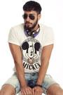 White-joyrich-shirt-light-blue-forever21-shorts-black-ray-ban-sunglasses