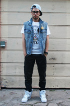 light blue mickey mouse joyrich hat - white mickey mouse joyrich shirt