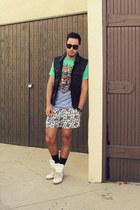 aquamarine LIFE Clothing Co shirt - white Topman shorts
