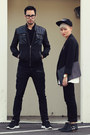 Black-houndstooth-hot-topic-jeans-black-nylon-forever21-jacket
