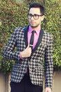 Black-antoine-stanley-shoes-silver-houndstooth-mr-turk-blazer