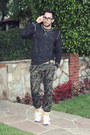Army-green-camouflage-topman-jeans-dark-gray-threads-4-thought-sweater