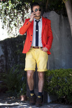 Zara jacket - Twenty-one Men shirt - Zara shorts - ray-ban sunglasses - Twenty-o