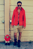 Zara jacket - Kenneth Cole boots - H&M shorts - aviators ray-ban sunglasses