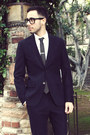 White-emile-lafaurie-for-sean-shirt-navy-emile-lafaurie-for-sean-suit