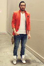 Navy-hot-topic-jeans-silver-beanie-old-navy-hat-red-zara-blazer
