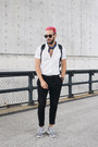 White-h-m-shirt-black-buscemi-bag-black-ray-ban-sunglasses
