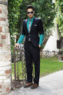 Dark-brown-zara-shoes-turquoise-blue-h-m-shirt-navy-paul-smith-sunglasses