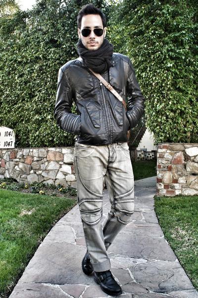 black leather Zara jacket - black Ralph Lauren boots