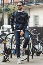 H&M sweater - Eight Field of Freedom jeans - Kenneth Cole jacket