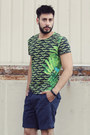 Navy-tsubo-shoes-green-versace-for-h-m-shirt-navy-levis-shorts