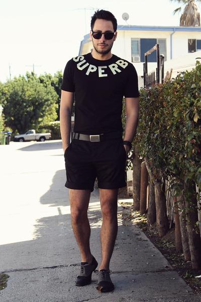 black brogue oxford Forever21 shoes - black superb Forever21 shirt
