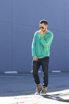 green hoodie Gypsy05 sweater - navy Hot Topic jeans