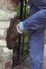 Green-stripe-ben-sherman-tie-dark-brown-brogues-zara-shoes