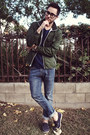 Navy-boat-shoes-h-m-shoes-sky-blue-h-m-jeans-army-green-gap-jacket