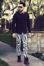 leopard Michael Kors sneakers - black leopard collar Topman shirt