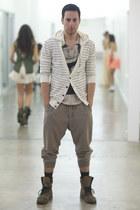 ivory antony morato shirt - heather gray Aldo boots