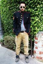 thrifted vintage jacket - Aldo boots - aviator ray-ban sunglasses
