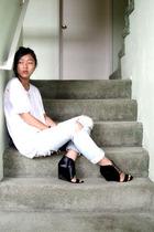 calvin klein shirt - forever 21 jeans - Aldo shoes