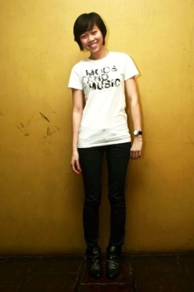 ben sherman t-shirt - Viktor Jeans jeans - Zara boots