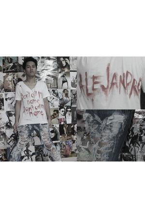 red DIY Alejandro Shirt shirt - gray DIY Distressed Jeans jeans