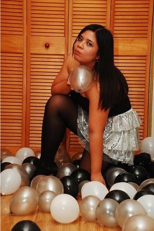 silver Glitterati skirt