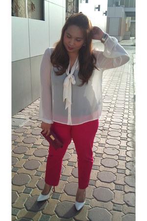 H&M blouse - Promod pants - Vincci heels