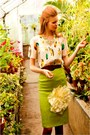 Chartreuse-skirt