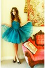 Turquoise-blue-dress