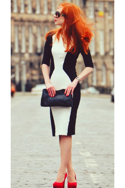 White Dresses Black Bags Red Heels | &quot3 classy colors together