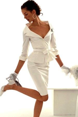 white Peplum blazer