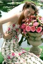 white dress - light pink accessories