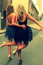 black tuttu skirt - teal tuttu skirt