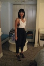 Topshop top - H&M pants - go jane shorts - aa bra