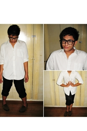 Marks and Spencers top - pants - TODs shoes - Ray Ban sunglasses